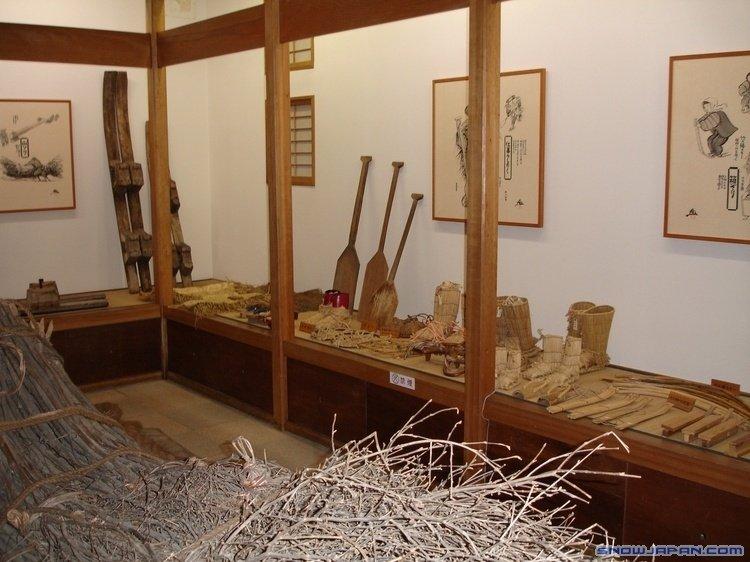 Exposición en el museo del esquí.