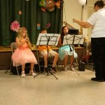 Trumpet solo in beginning band.