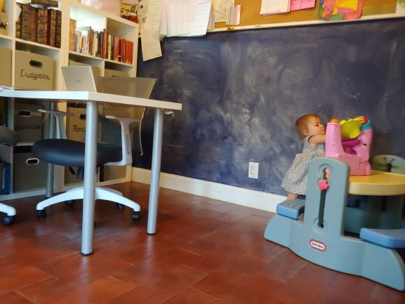 School Room Makeover (and free math worksheet)!
