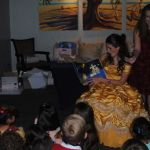 Belle reading A Nest for the Savior