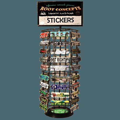 z 60 slot counter top sticker rack 9197