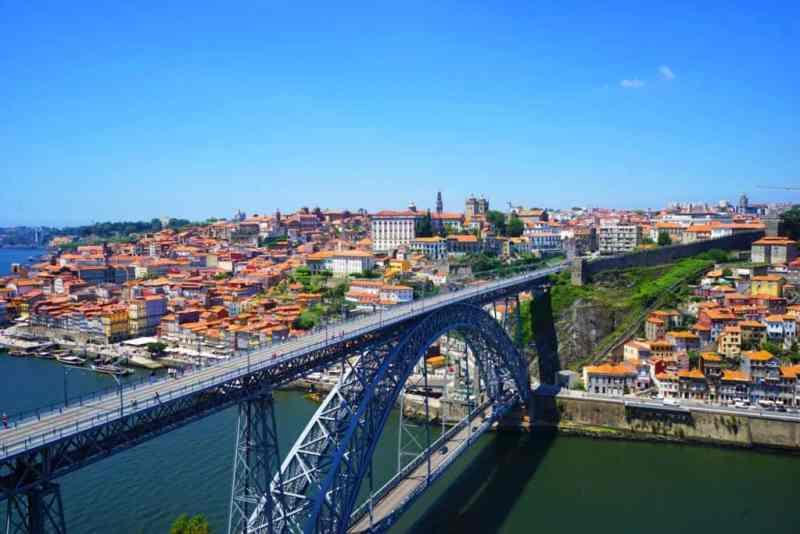 Porto bridge view