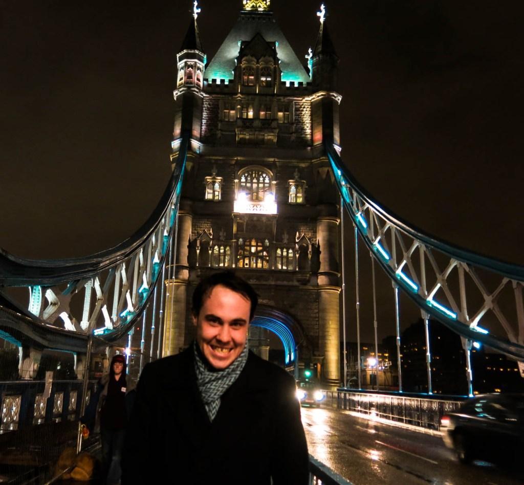 Never Ending Honeymoon | Dan and Tower Bridge at night, London