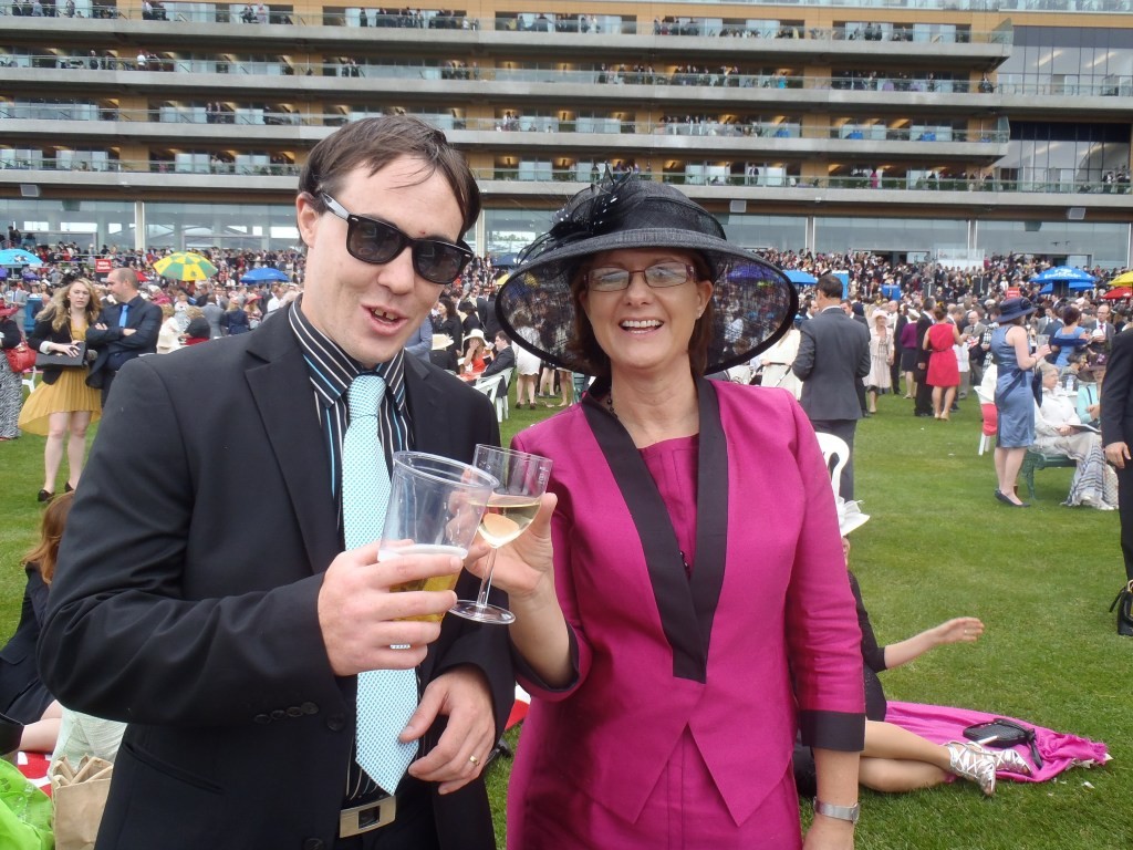 Dan and Sue at Ascot Races 2012