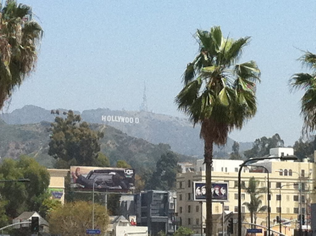 Never Ending Honeymoon | The Hollywood sign in LA, USA.