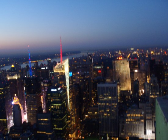 Never Ending Honeymoon | NYC at sunset from the Empire State Building