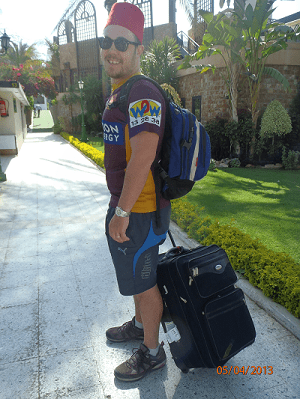 Never Ending Honeymoon | Dan in Egypt with a suitcase