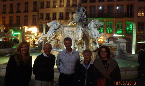 Never Ending Honeymoon | Jacqui, Grandpa, Grandma, Mum and Dad in Lyon, France