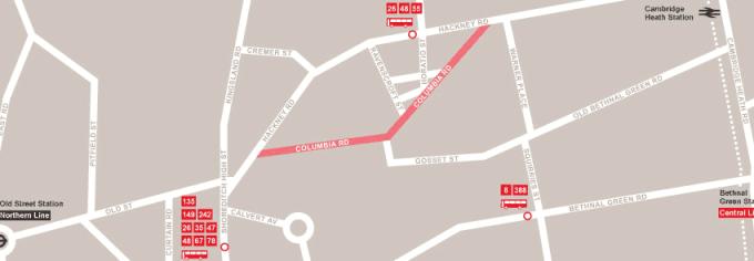 columbia road markets map