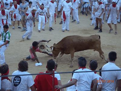 Never Ending Honeymoon | San Fermin Opening Ceremony July 2013 Running of the Bulls