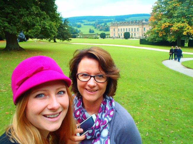 Mum and I at Chatsworth House