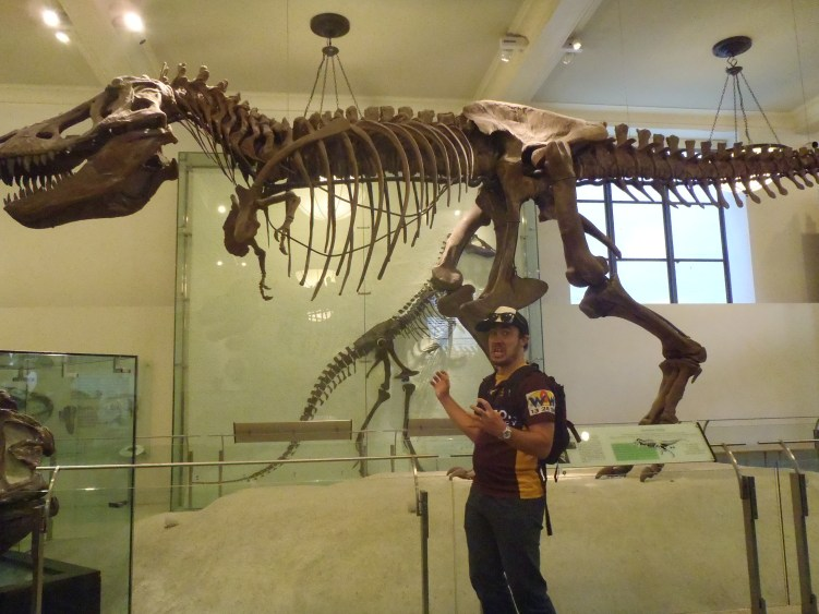 Getting his claws out at the Museum of Natural History, New York City