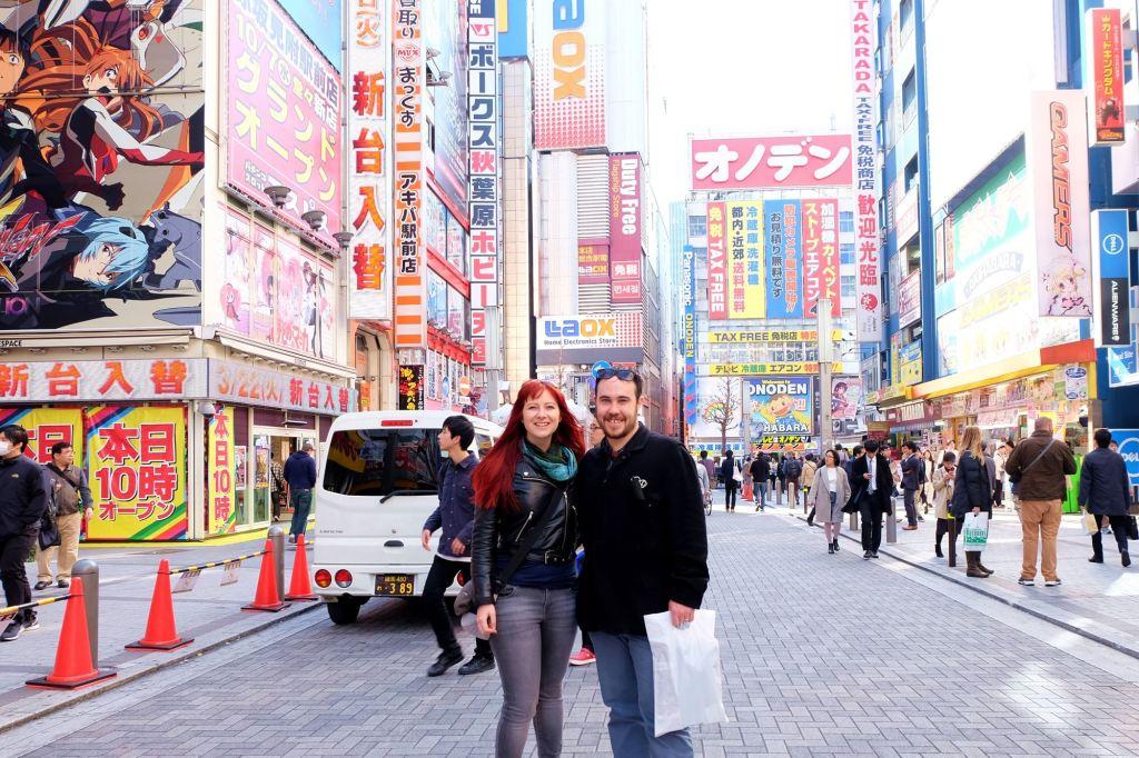 Jacqui and Dan at Akihabara