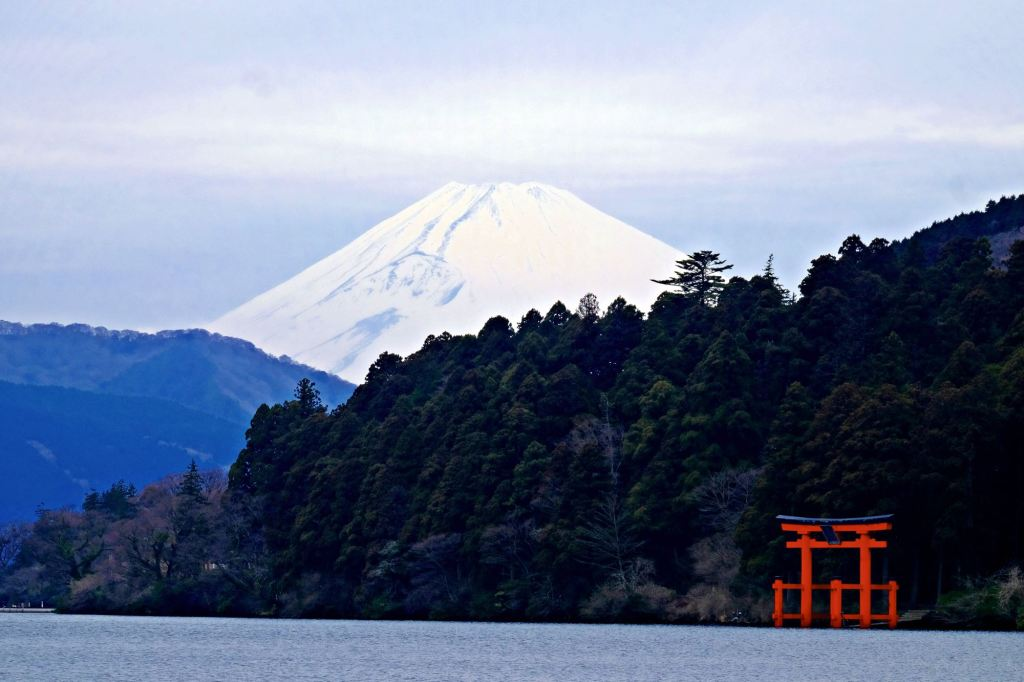 Hakone Mt Fuji and the Torii Gate