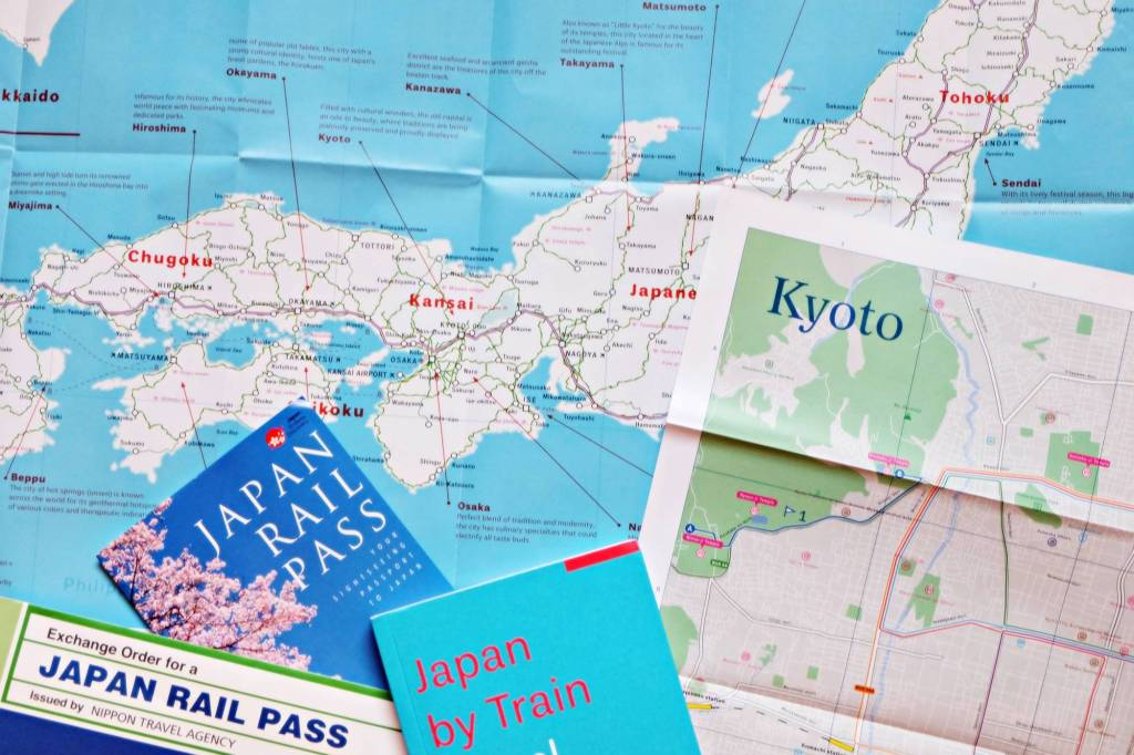 Journey through Japan: JR Pass and Kyoto Map
