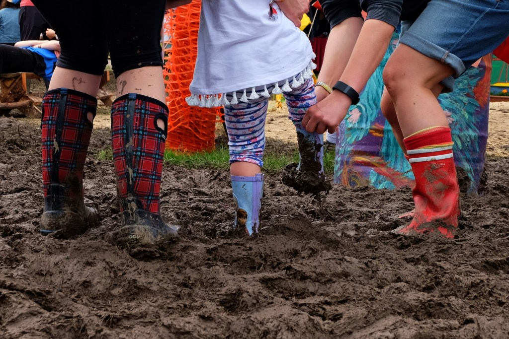 Glastonbury 2016 23 June Thursday day Greenfields Stuck in the Mud WS