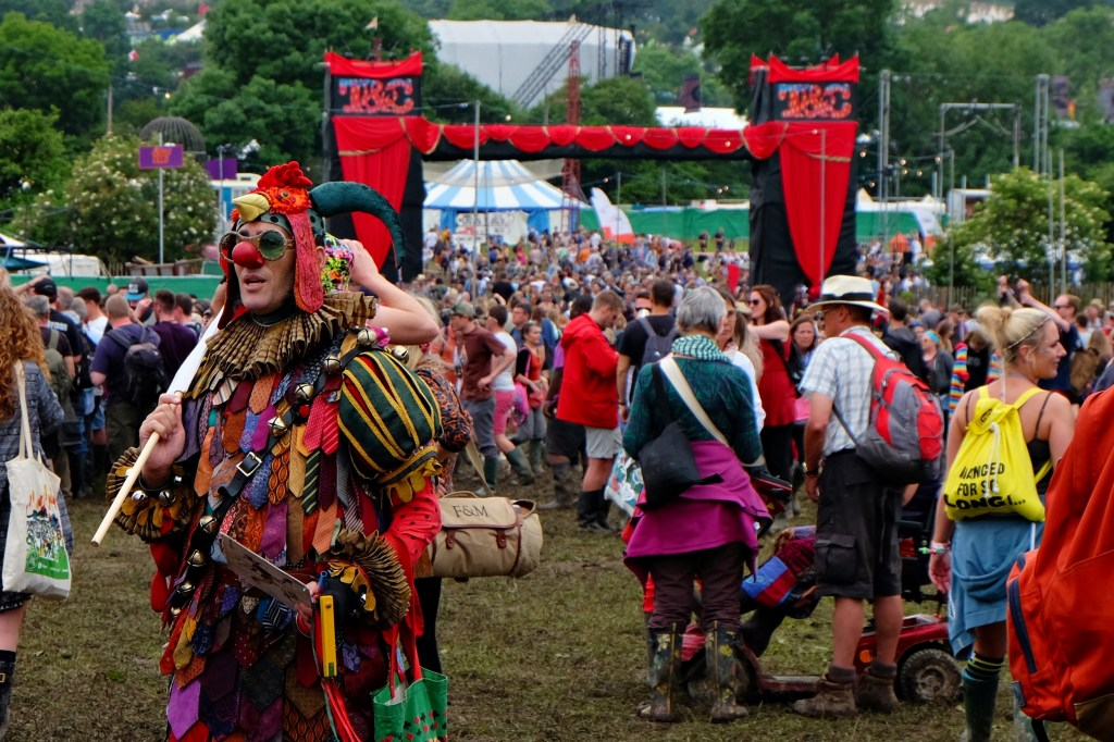 Glastonbury 2016 23 June Thursday day Theatre and Circus field WS