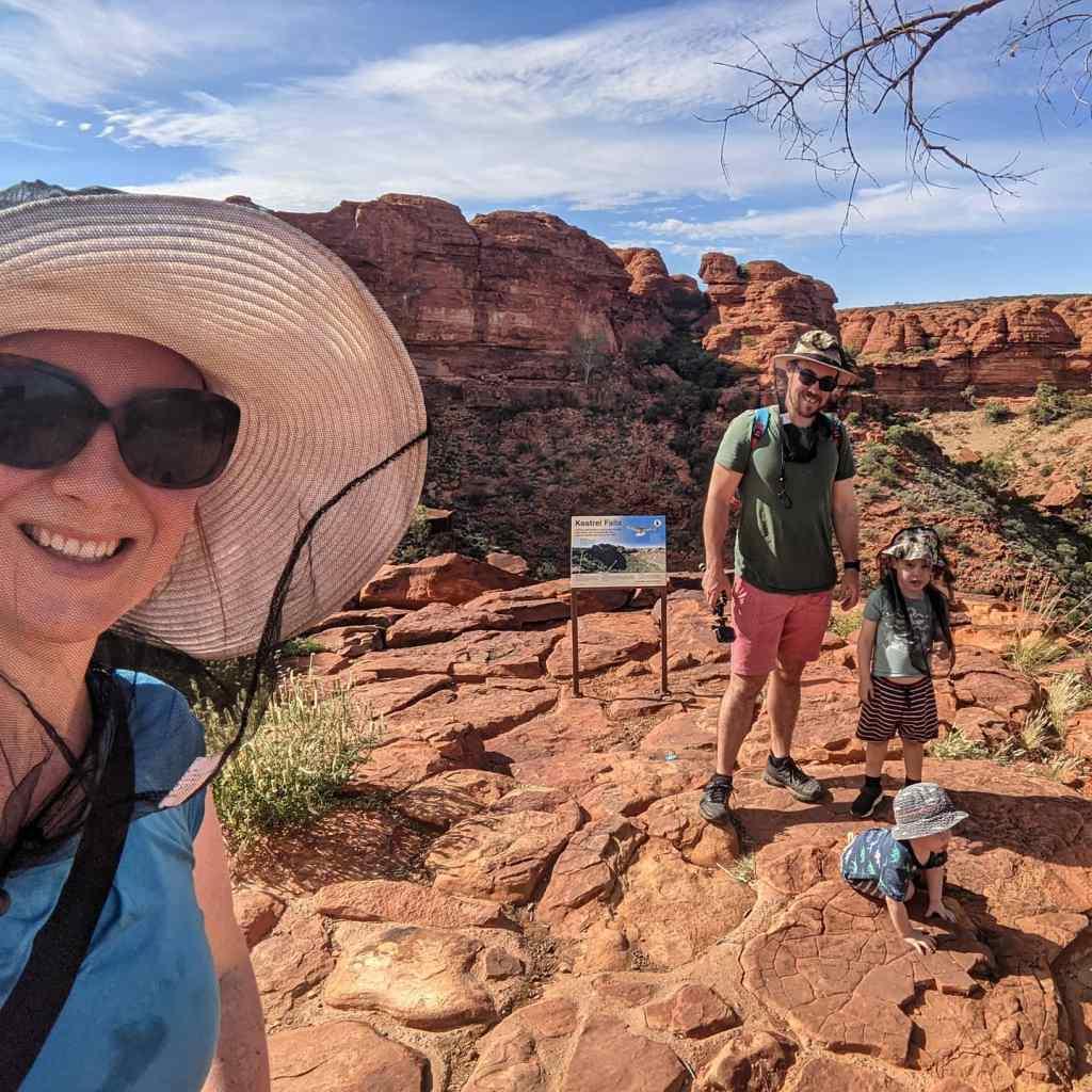 NT holiday Kings Canyon Rim walk