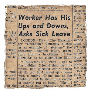 The Bricklayer's Excuse- True story?
