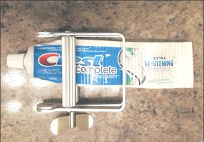 This toothpaste tube squeezer is overkill.