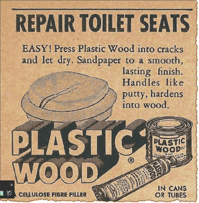 Repair toilet seats! ad from back of magazine