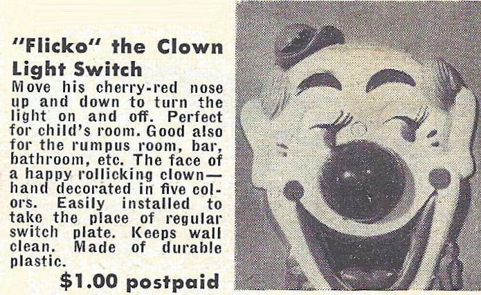 FLICKO THE CLOWN light switch ad