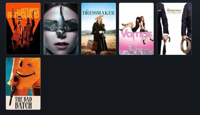bilde av filmplakatene til alle filmene i innlegget