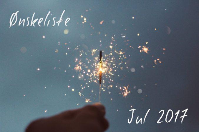 bilde av stjerneskudd, med teksten ønskeliste jul 2017