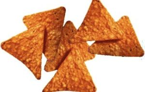 Doritos - Eat the the classy way: from a paper plate with lots of mouth noise