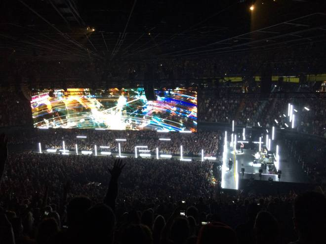 U2 perform City of Blinding Lights at the Forum. Photo by Darryl Asher,