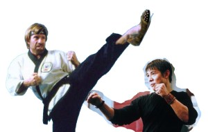Actual unretouched photo of how it all went down with Chuck Norris and Jet Li
