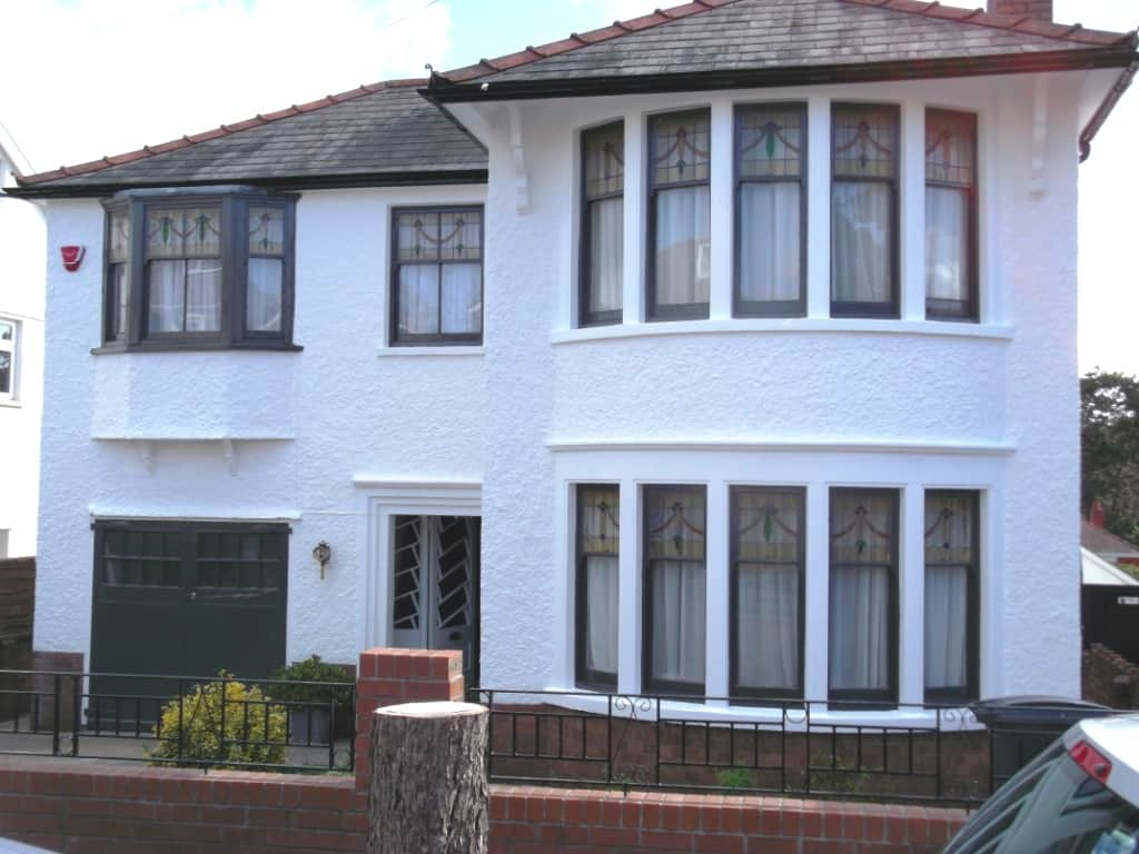 Period Property Cardiff Painted With Exterior Wall Coatings