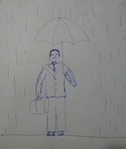 "Acceptable ""Persona bajo la lluvia"""