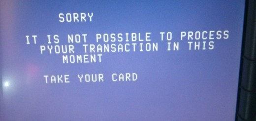 Scotia Bank ATM Error