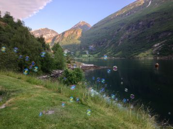 Bubbles at Geirangerfjord
