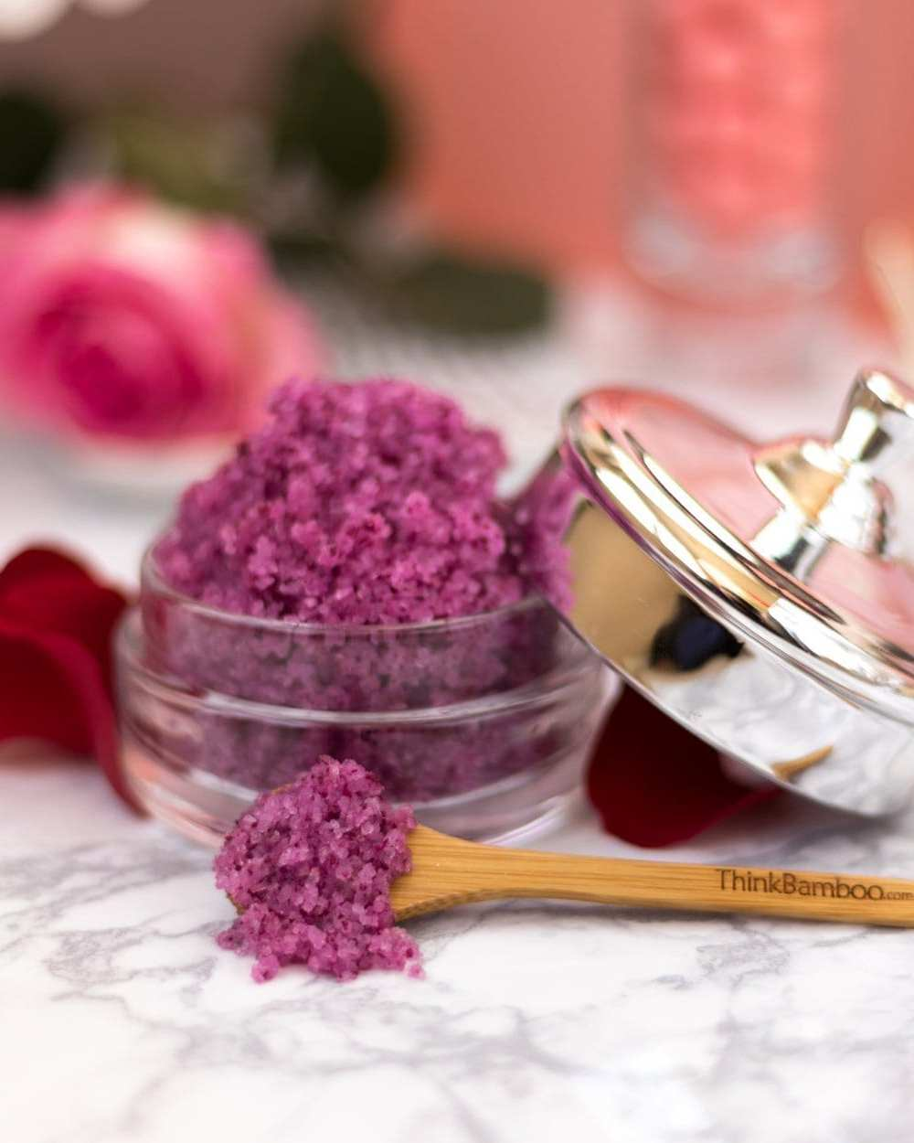 DIY Spa - Valentines Day sweet sugar and salt scrub