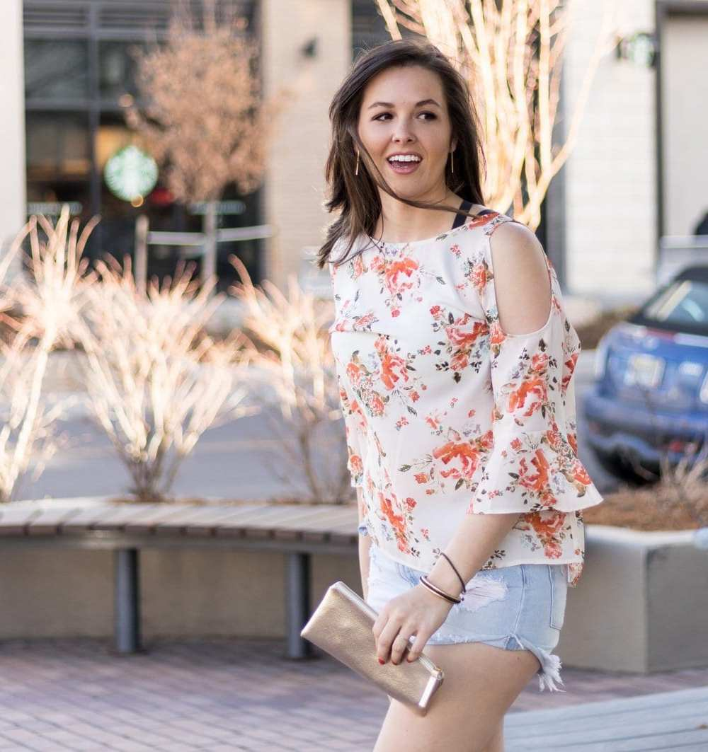 Cold Shoulder tops for spring