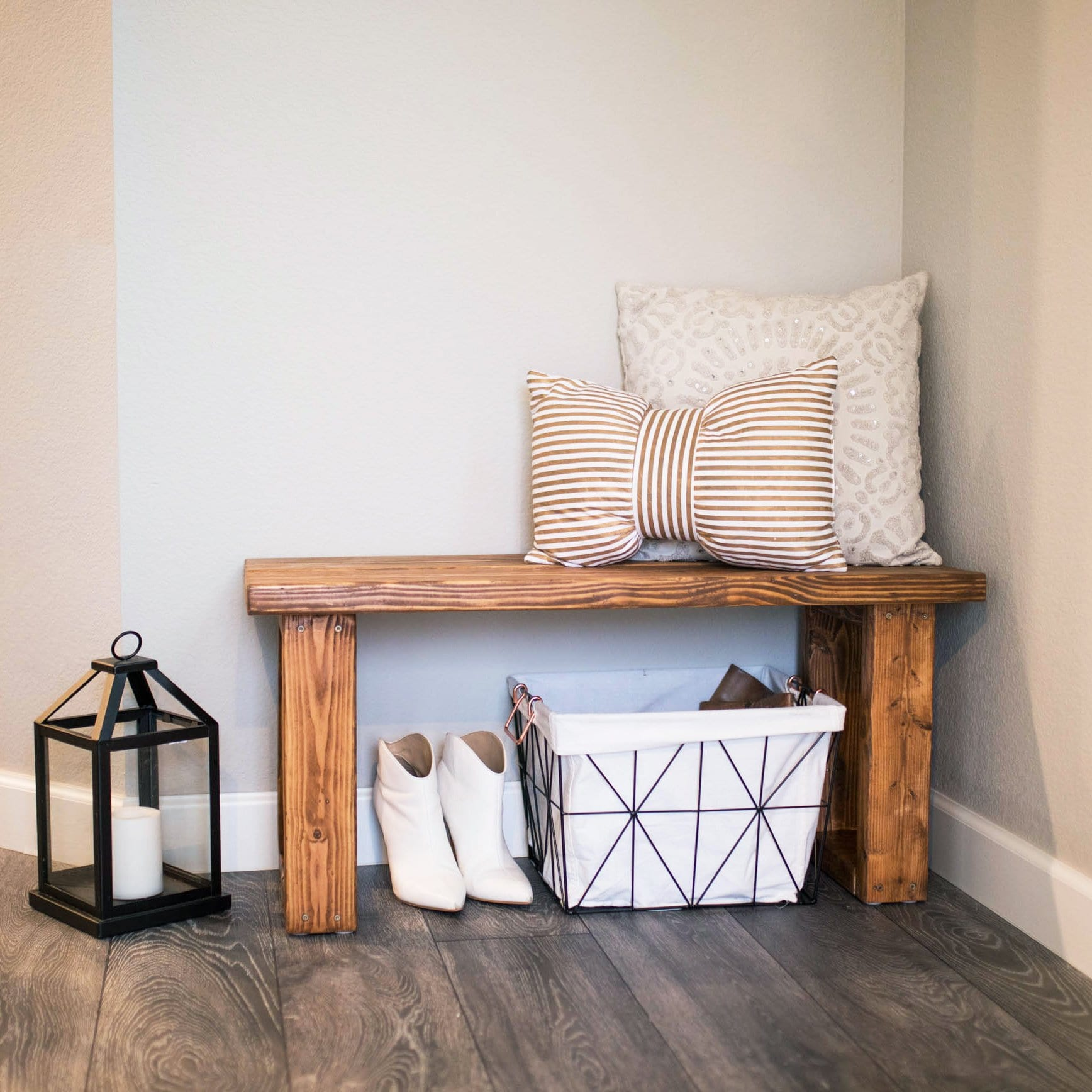 Sensational Make This Gorgeous Diy Entryway Bench For Under 12 Never Machost Co Dining Chair Design Ideas Machostcouk