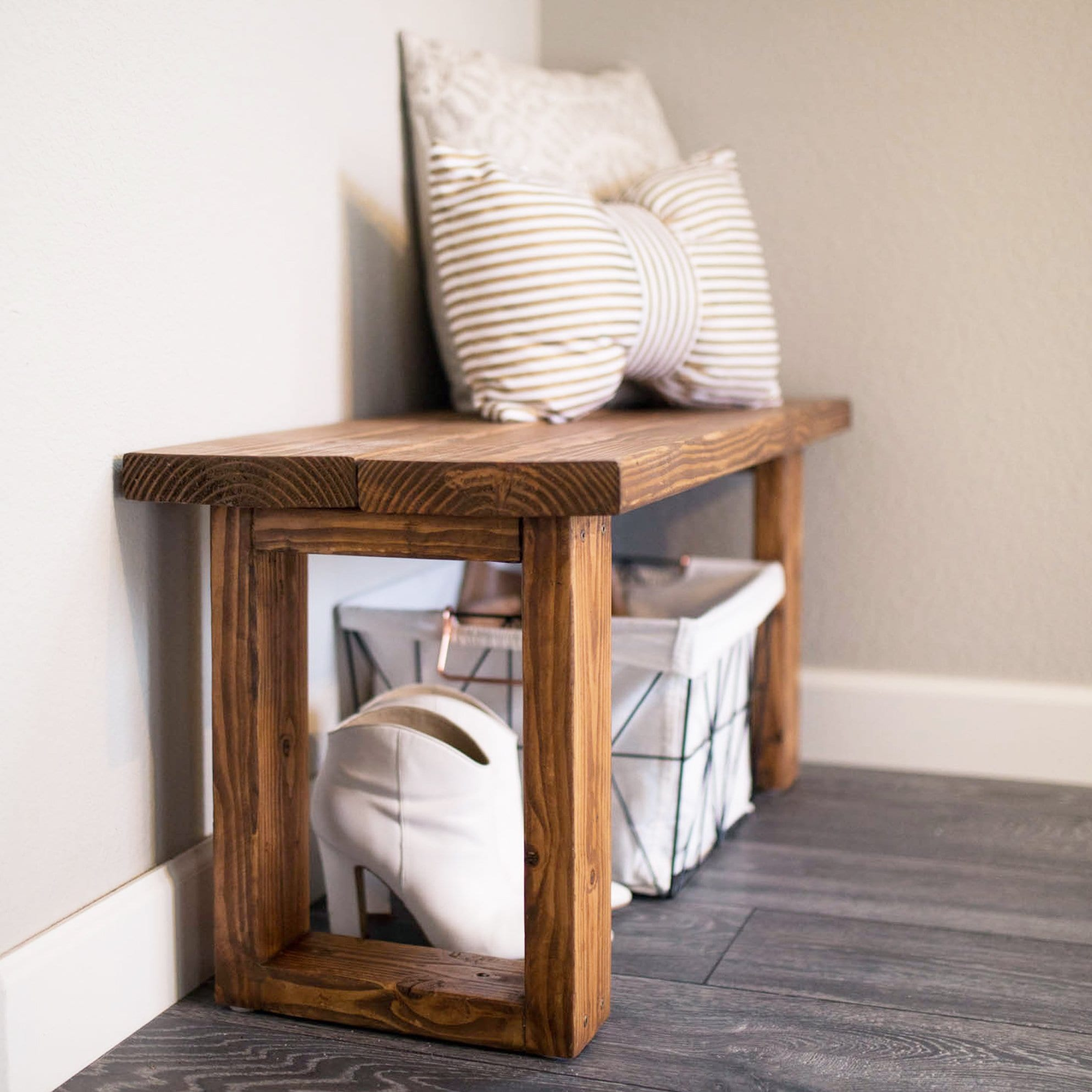 Outstanding Make This Gorgeous Diy Entryway Bench For Under 12 Never Machost Co Dining Chair Design Ideas Machostcouk