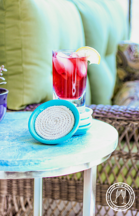 This easy diy project shows you how to make rope coasters with a glue gun that have a bottom   rope coasters home decor   rope coasters tutorials   Never Skip Brunch by Cara Newhart   #decor #diy #neverskipbrunch