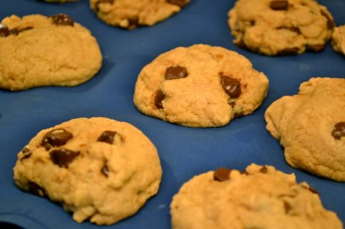 Peanut Butter, Banana, Chocolate Chip Cookies
