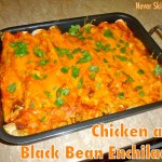 Chicken and Black Bean Enchiladas