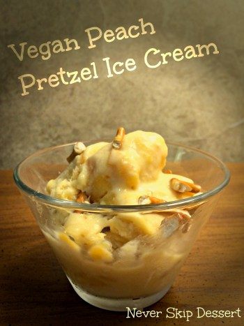 Vegan Peach Pretzel Ice Cream
