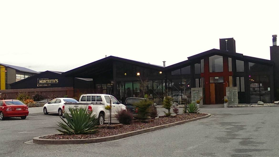Monteith´s Brewing in Greymouth