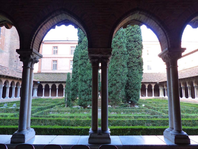 Jakobinerkonvent, Garten, Innenhof, Kreuzgewölbe, Toulouse, Frankreich