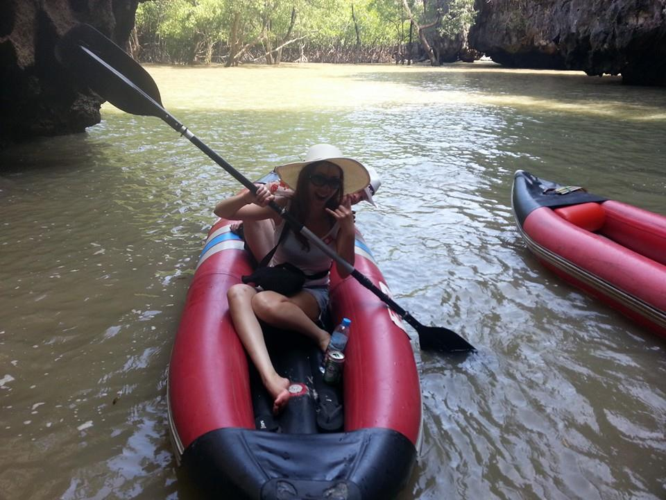 Sea Kayaking in/around Limestone Caves - Phang Nga Bay, Thailand