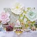 Vintage floral dessert table