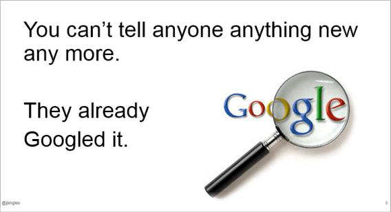 They already Googled it
