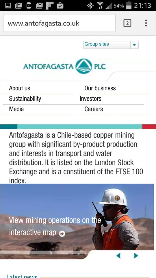 Antofagasta mobile-friendly website