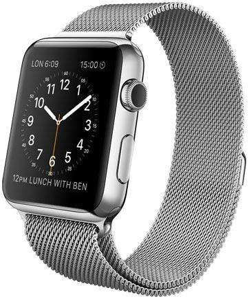 Apple Watch with Melanese Loop mesh strap